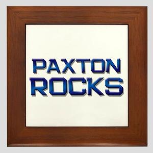 paxton rocks Framed Tile