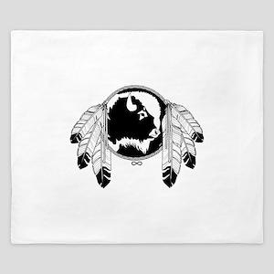 Metis Spirit Buffalo Native Art King Duvet