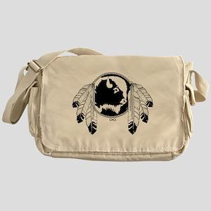 Metis Spirit Buffalo Native Art Messenger Bag