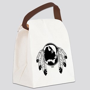 Metis Spirit Buffalo Native Art Canvas Lunch Bag