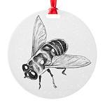 Honey Bee Art Round Ornament