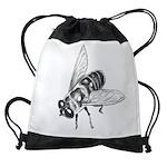 Honey Bee Art Drawstring Bag