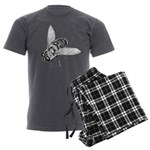 Honey Bee Art Men's Charcoal Pajamas