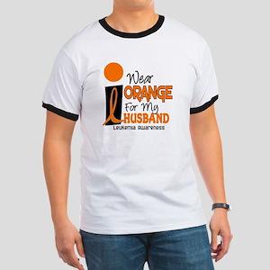 I Wear Orange For My Husband 9 Leukemia Ringer T