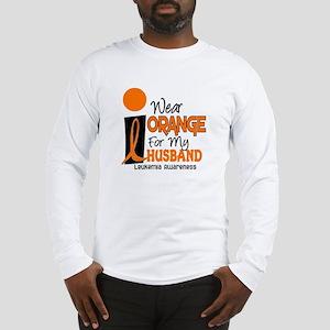 I Wear Orange For My Husband 9 Leukemia Long Sleev