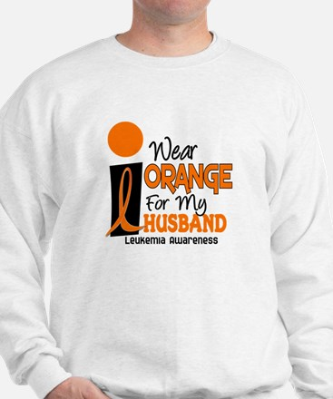 I Wear Orange For My Husband 9 Leukemia Sweatshirt
