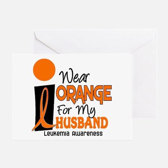 I Wear Orange For My Husband 9 Leukemia Greeting C