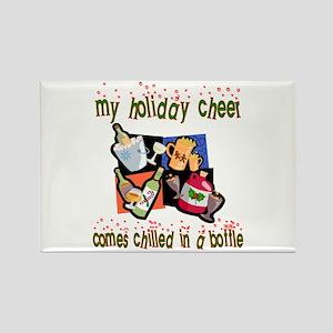 Bottled Holiday Cheer Rectangle Magnet