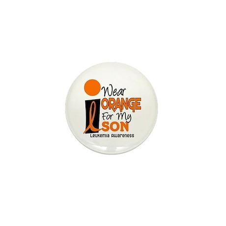 I Wear Orange For My Son 9 Leukemia Mini Button