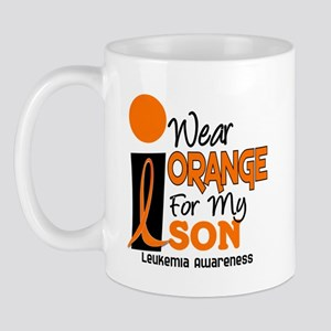 I Wear Orange For My Son 9 Leukemia Mug