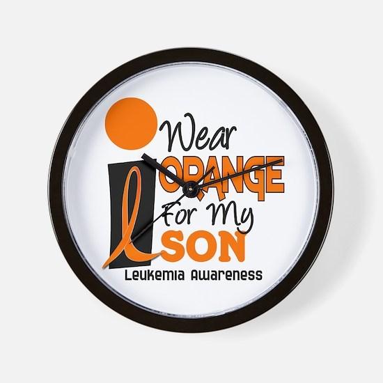 I Wear Orange For My Son 9 Leukemia Wall Clock