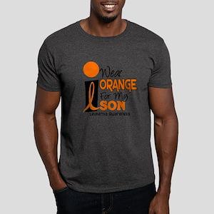 I Wear Orange For My Son 9 Leukemia Dark T-Shirt