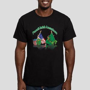 Irish American Men's Fitted T-Shirt (dark)
