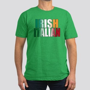 Irish Italian Men's Fitted T-Shirt (dark)