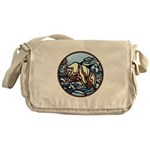 Tribal Bear Art Messenger Bag
