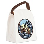 Tribal Bear Art Canvas Lunch Bag