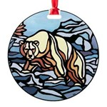 Tribal Bear Art Round Ornament