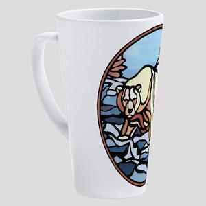 Tribal Bear Art 17 oz Latte Mug
