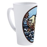 Tribal Bear Art 17 oz Latte Mug