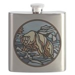 Tribal Bear Art Flask