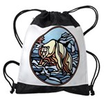 Tribal Bear Art Drawstring Bag