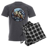 Tribal Bear Art Men's Charcoal Pajamas