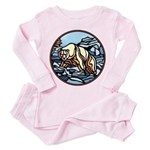 Tribal Bear Art Toddler Pink Pajamas