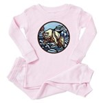 Tribal Bear Art Baby Pink Pajamas