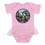 Tribal Bear Art Baby Tutu Bodysuit