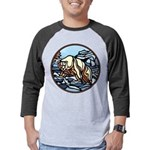 Tribal Bear Art Mens Baseball Tee