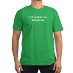 i'd rather be blogging. Men's Fitted T-Shirt (dark