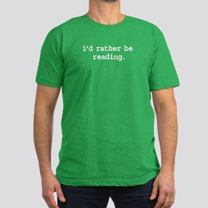 i'd rather be reading. Men's Fitted T-Shirt (dark)
