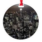 New York Empire State Souvenir Round Ornament