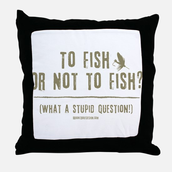 To Fly Fish Throw Pillow