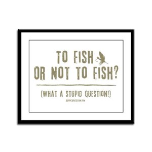 To Fly Fish Framed Panel Print