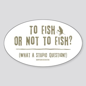 To Fly Fish Oval Sticker