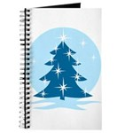 Blue Christmas Tree Journal
