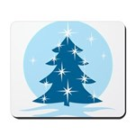 Blue Christmas Tree Mousepad