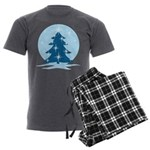 Blue Christmas Tree Men's Charcoal Pajamas