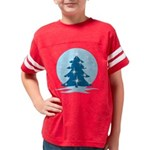 Blue Christmas Tree Youth Football Shirt
