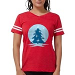 Blue Christmas Tree Womens Football Shirt