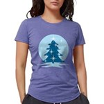 Blue Christmas Tree Womens Tri-blend T-Shirt
