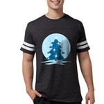 Blue Christmas Tree Mens Football Shirt