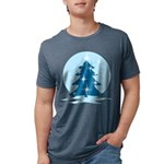 Blue Christmas Tree Mens Tri-blend T-Shirt