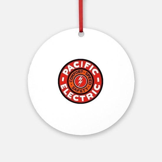 Pacific Electric logo Round Ornament