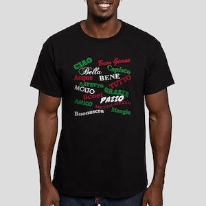 Italian Sayings Men's Fitted T-Shirt (dark)