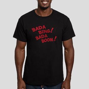 Bada Boom Men's Fitted T-Shirt (dark)