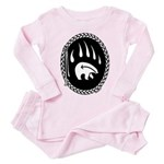 Tribal Bear Claw Toddler Pink Pajamas