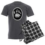 Native Art Gifts T-shirt Bear Claw Men's Charcoal