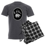 Tribal Bear Claw Men's Charcoal Pajamas